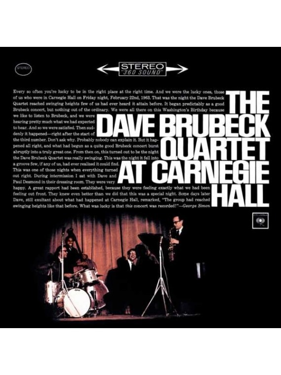 Dave Brubeck Quartet  At Carnegie Hall