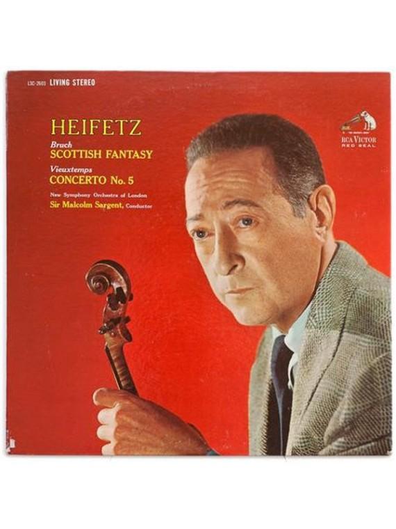 Jascha Heifetz  Bruch Scottish Fantasy  Vieuxtemps Concerto No. 5