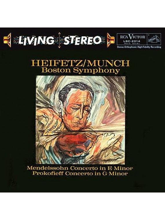 Jascha Heifetz  Mendelssohn Prokofiev Violin Concerto